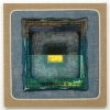 2006, acrylic and found fabric on burlap, 46 x 46 in./117 x 117 cm.