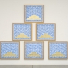 2008, silkscreen on found fabric and acrylic on burlap (six panels), 97 ½ x 122 in./247.7 x 309.9 cm. (overall)